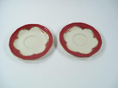 2 Saucer Royal Tettau/Bayreuth China Made In Germany
