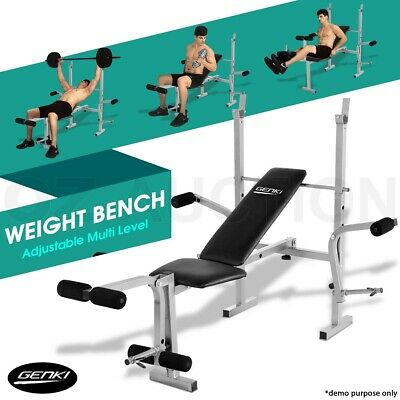 Genki Multi Fitness Home Gym Exercise Equipment Weights Bench Press Incline ABS