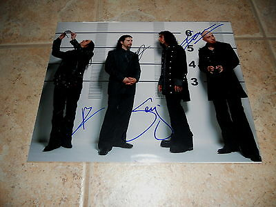 System Of A Down Band Signed Autographed 11x14 Guitar Photo #1 X All 4 Serj