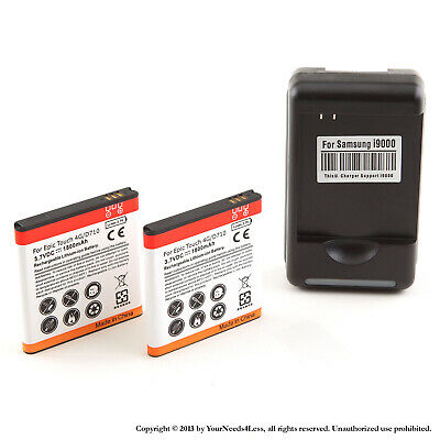 2 x 1800mAh Li-ion battery for Samsung Galaxy S II Epic 4G Touch D710  + Charger