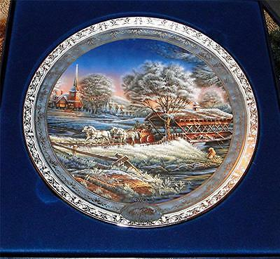 Terry Redlin Home for the Holidays MORNING FROST Christmas Bradford Plate