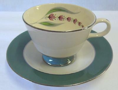 HOMER LAUGHLIN CHINA LUPINE RIMMED CUP & SAUCER