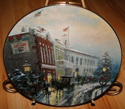 Thomas Kinkade's Yuletide Memories THE WONDER OF THE SEASON Knowles Plate
