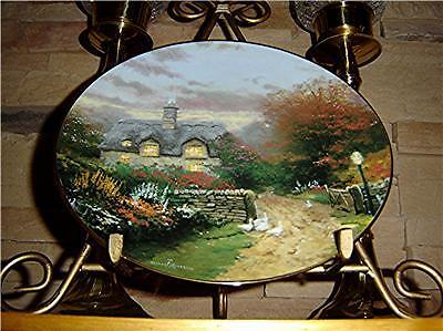Garden Cottages of England THOMAS KINKADE Open Gate Cottage Knowles Plate