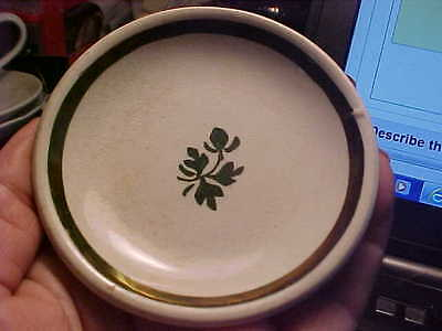 A. Shaw 1890's Tea Leaf Copper Lustre Round Ironstone Butter Pat
