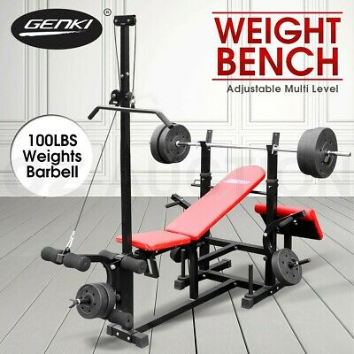 Genki Fitness Multi-Station Weight Bench Press Incline Barbell Home Gym Exercise