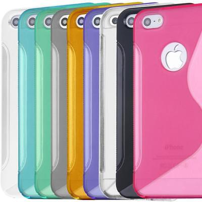 Hybird TPU Silicone Gel Skin Case Cover S-Line Sline Curve For iPhone 5 5S SE