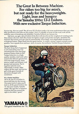 1972 Yamaha Enduro motorcycle Vintage Advertisement Ad - Y10