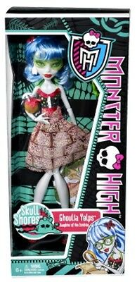 "Monster High Skull Shores Ghoula Yelps Daughter of the Zombies 11"" Fashion Doll!"