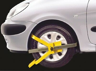 "Anti Theft Security Lock Wheel Clamp 13 14 15"" Wheels"