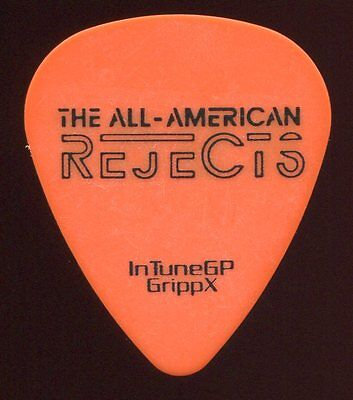 ALL AMERICAN REJECTS 2012 Kids Tour Guitar Pick!!! MATT RUBANO concert stage