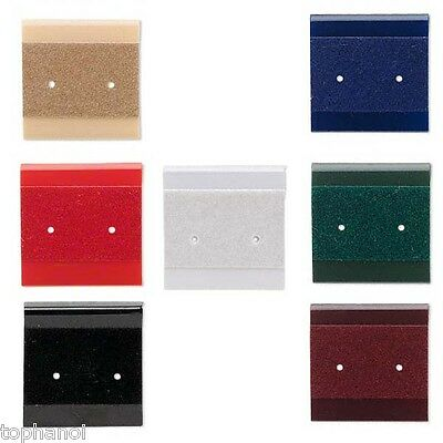 Wholesale 100 Small Velvet Flocked 1 Inch Earring Display Cards with Hanging Tab