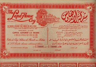 EGYPT The Land House Coy Victor Frank & Co Finance & Investment Trust Co