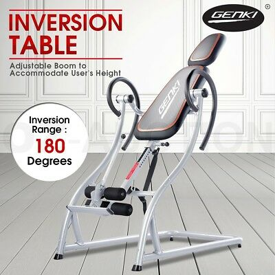 Genki Pro Gravity Inversion Table Fitness Upside Down Home Gym Exercise