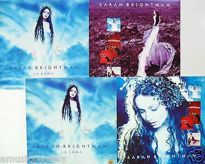 "SARAH BRIGHTMAN ""LA LUNA"" 2-SIDED U.S. PROMO POSTER/BANNER - Classical Crossover"