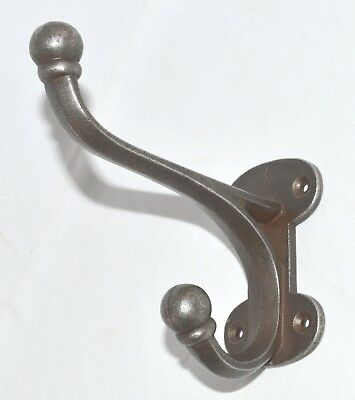 CAST IRON HALL STAND HAT & COAT HOOK ANTIQUE IRON LARGE Antique  Repro Heavy