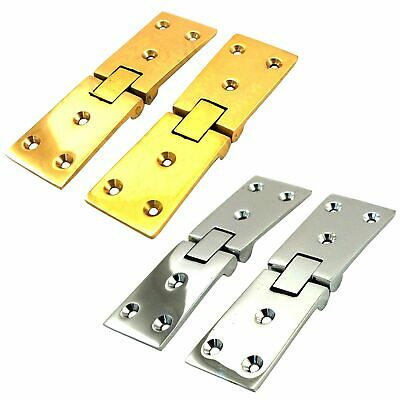 2 x HEAVY DUTY SOLID BRASS OR CHROME COUNTERFLAP HINGE Bar/Pub Counter Flap Open