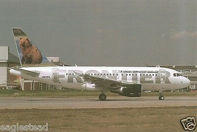 Airline Postcard - Frontier - A318 111 - N801FR - Bear  (P2669)