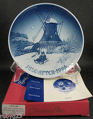 Danish Bing & Grondahl Christmas plate Winter at the Old Mill 1996 Jorg Nielsen