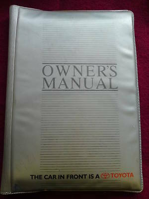 Original Owners Manual Cover For Toyota Carina 1997