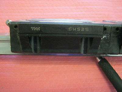 "THK Model: SHS25 (2)  Linear Slides pm 15 3/8"" Rail < W"