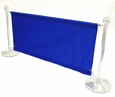 1.4 meter blue banners for our cafe barrier systems, shop banners, cafe banners