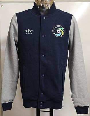 New York Cosmos Navy/grey Baseball Fleece Jacket By Umbro Size Small Brand New