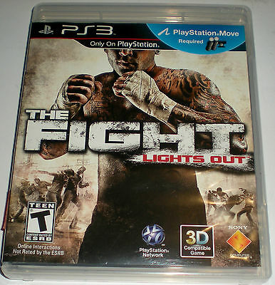 PS3 PLAYSTATION 3 GAME THE FIGHT LIGHTS OUT BRAND NEW BROKEN SEAL