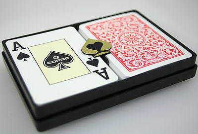 Copag 1546 Red Blue Playing Cards Poker Size Jumbo Index Cut Card Dealer Button