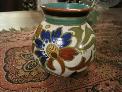 Beautiful Vintage Hand Painted Signed Holland Porcelain Small Vase Jar Quality