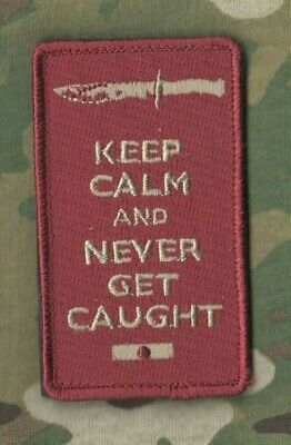 AFG-PAK TALIZOMBIE​© WHACKER WAR TROPHY VELCRO MORALE PATCH: Keep Calm Series f