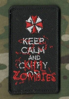 KANDAHAR WHACKER​© WAR TROPHY hook/loop PATCH: Bloody Keep Calm Carry on SIGN