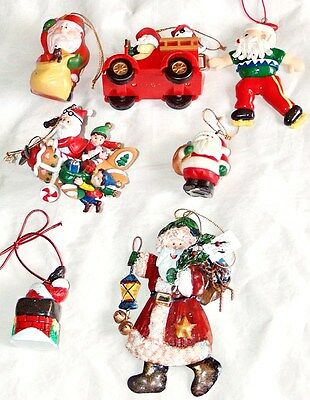 7 Lot Xmas Tree Hanging Holiday Santa Claus Ornament 1 Kurt Adler Hand Crafted