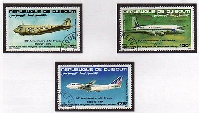 Djibouti 1983 Air France Planes SG 875/877 FU