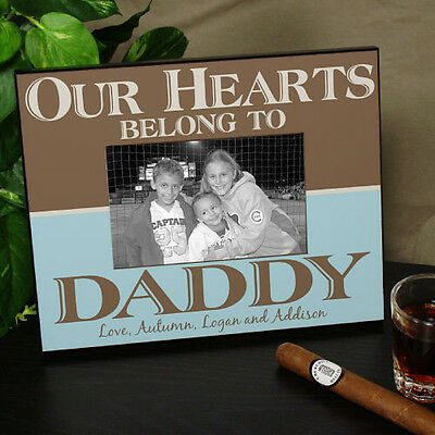 Personalized Our Hearts Belong to Daddy Picture Frame Father's Day Photo Frame