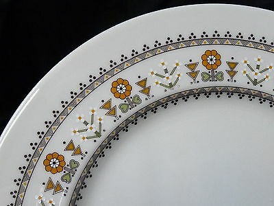 """Royal Doulton Kimberley Pattern 10-1/2"""" Dinner Plate TC1106 ~ Some Use Marks"""