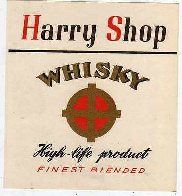10 Etiquettes Anciennes Whisky Harry Shop High Life Product Finest Blended
