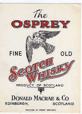 9 Etiquettes Scotch Whisky The Osprey Balbuzard Edinburgh Scotland Royaume Uni
