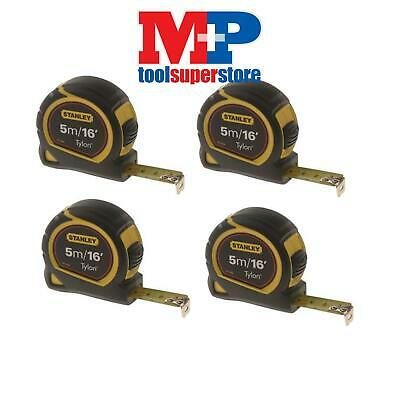 Stanley 130696 Pocket Tylon Tape Measure 5M 5 Metre **pack Of 4**