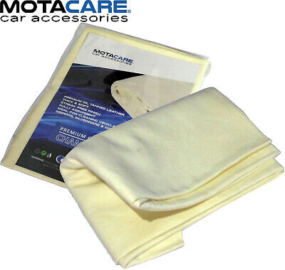 Genuine Large Real Chamois Leather 5.4 - 6.2 Sq Feet Car Cleaning Drying Cloth