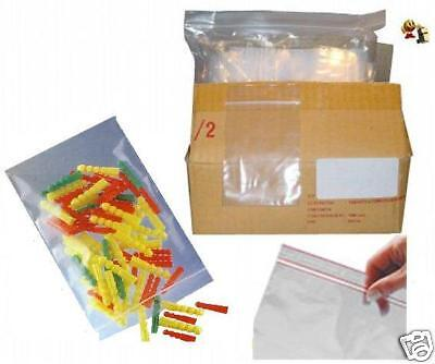 Lot 100 Emballages Pochette Pochon Sachet plastique transparent Zip bag 70x100