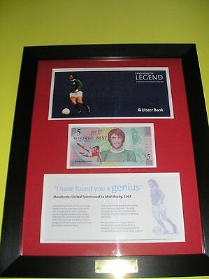 George Best £5 Note/ Wallet - Framed & Mounted Limited