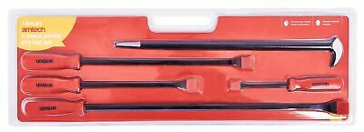 New 5pc Hi-Visibility Jumbo Pry Bar Set Rolling Bar Crow Lever Drop Forget Heat