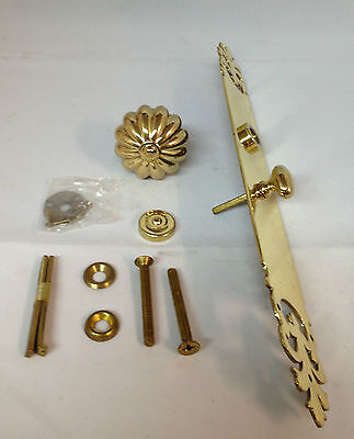 Baldwin 6575-030-ENTR Champlain Knob Trim POLISHED BRASS POSSIBLE PARTS MISSING