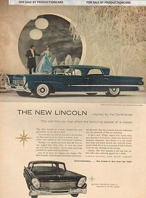 1958 Lincoln Premiere Landau Color - Classic 10x13 Vintage Advertisement Ad LG6