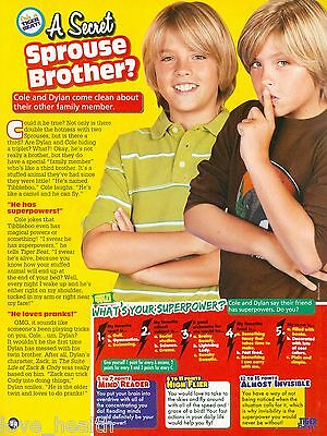 """DYLAN & COLE SPROUSE - ASHLEY TISDALE - THE SUITE LIFE - 11"""" x 8"""" PINUP - POSTER"""