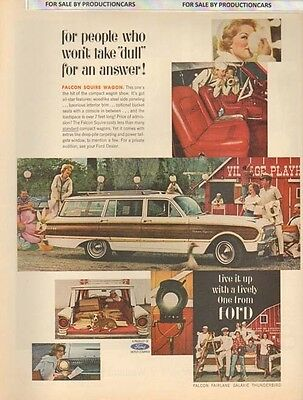 1962 Ford Falcon Squire Wagon -  Classic 10x13 Vintage Advertisement Ad LG8