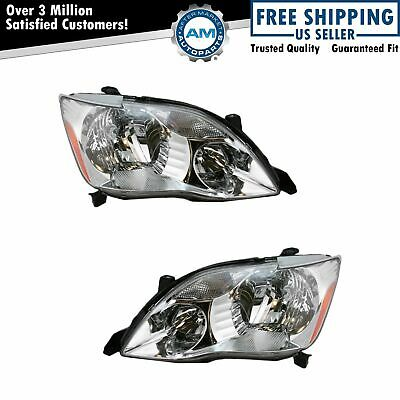 Headlights Headlamps Left & Right Pair Set for 05-07 Toyota Avalon