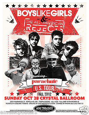 Boys Like Gilrs / All American Rejects 2012 Portland Concert Tour Poster