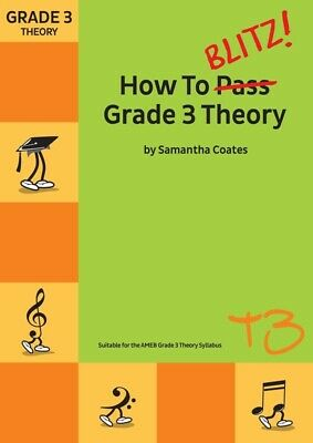 How to Blitz! Grade 3 Theory - Samantha Coates Book *NEW* Edition, AMEB syllabus